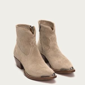 FRYE Shane Tip Short Side Leather Taupe Boots 8